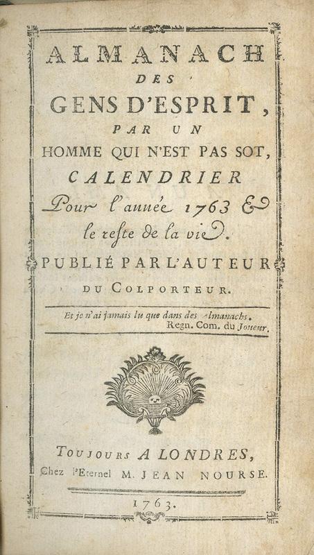 <em>Almanach des gens d'esprit</em>