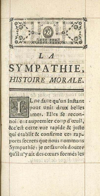 <em>La sympathie</em>