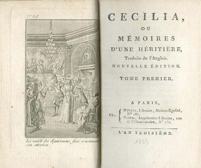 <em>Cecilia, ou, mémoires d'une héritière</em>