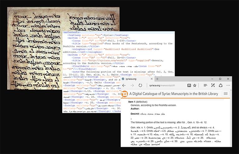 [Model of XML Encoding for Syriac Manuscripts]