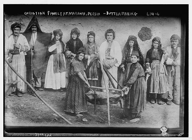 [Family Making Butter, Mawana, Persia]