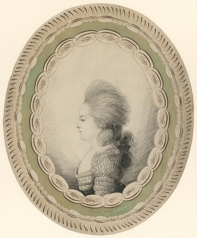 """Portrait of a Young Woman in Profile"""