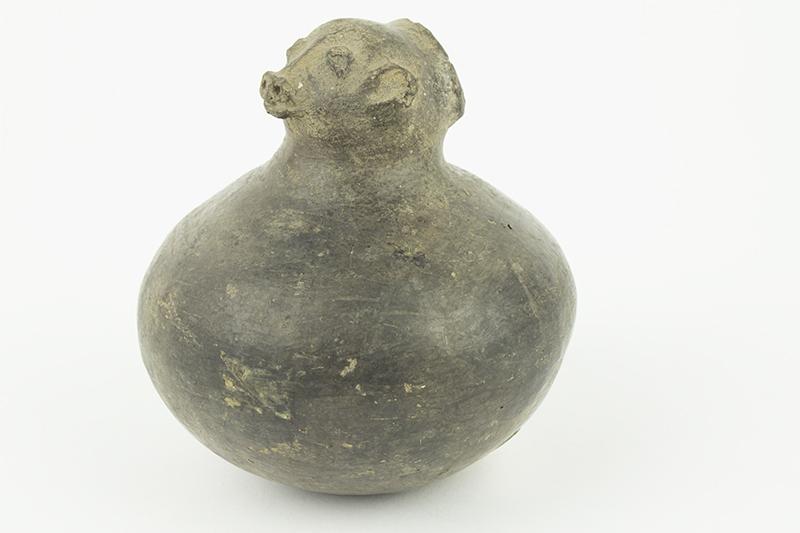 [Clay Pot with Bear Head]