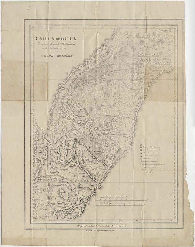 Carta de Ruta para Servir al Jeneral T.C. de Mosquera en las Campañas del Sur de la Nueva Granada