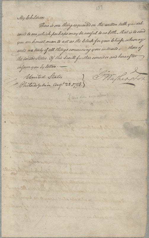 [George Washington's Address to the Chickasaw Nation]