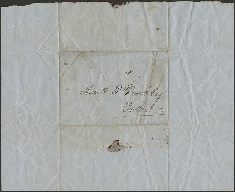 [Letter to Howell Tatum Davis, April 23, 1853]