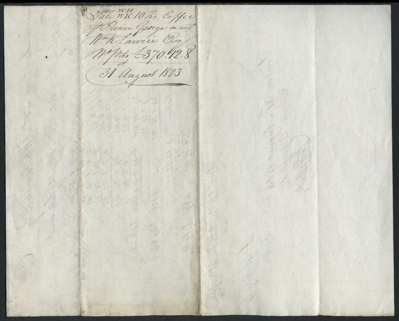 [Jamaican coffee trade manuscript documents]