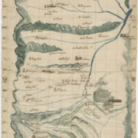 [Hand-drawn Map with Latitudinal and Longitudinal Axis]