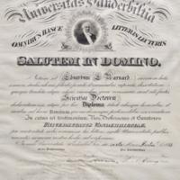 Honorary Diploma from Vanderbilt University: Presented to E. E. Barnard