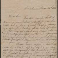 [Letter to President Andrew Jackson Requesting Land Office Position in Alabama]