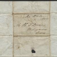 [Letter to Howell Tatum Davis, Nov. 18, 1840]