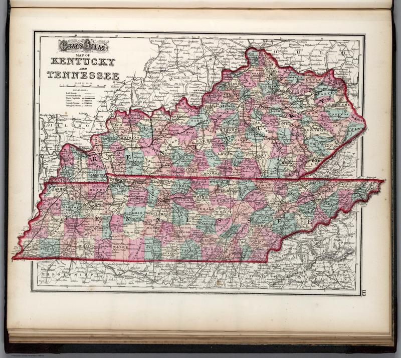 Gray and O.W. Gray & Son - 1876 - Gray's new map of Kentucky and Tennessee.jpg