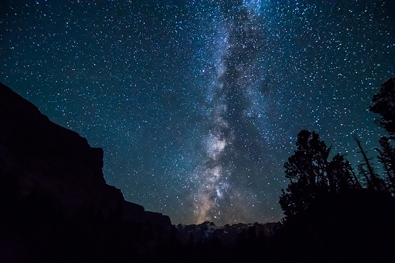 Milky Way from Gannett Peak
