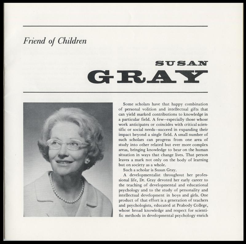 Susan Gray: Friend of Children