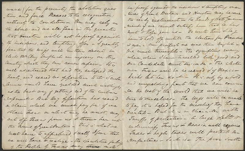 [Letter to Andrew Jackson from James Gadsden]