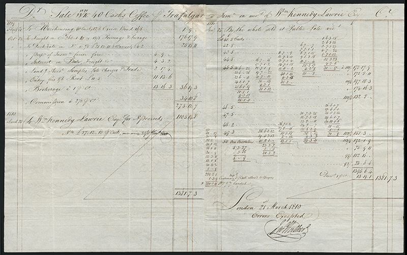 [Jamaican coffee trade manuscript documents]