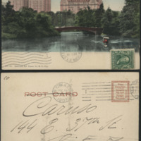 [Central Park with Majestic Hotel]