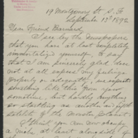 [Letter to Edward Emerson Barnard about the Discovery of Amalthea]