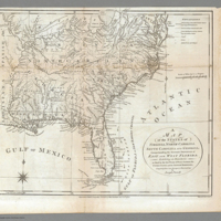 A Map of the States of Virginia, North Carolina, South Carolina, and Georgia; Comprehending the Spanish Provinces of East and West Florida: Exhibiting the Boundaries as fixed by the late Treaty of Peace between the United States and the Spanish Dominions