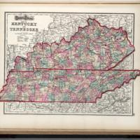 Gray's new map of Kentucky and Tennessee