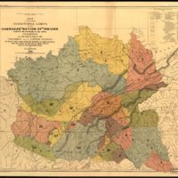 "Map of the former territorial limits of the Cherokee ""Nation of"" Indians"