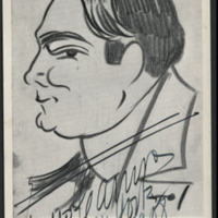 [Signor Caruso as Sketched by Himself]