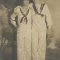 [Gertrude Conaway Vanderbilt with Friend at a Costume Ball]