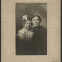 [Elizabeth Kirkland Merritt with Her Nurse, Ida]