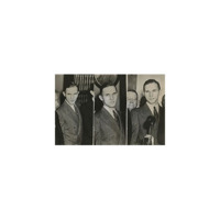 [Montage of Three Photographs of Bruno Richard Hauptmann on Trial]