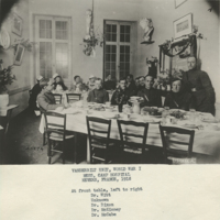 [Officers' and Nurses' Mess, Camp Hospital 28, Nevers, France 1918]