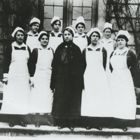 [Nurses with the Vanderbilt Hospital in France]