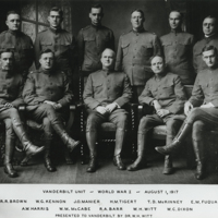 [Vanderbilt Unit, World War I, August 1, 1917]