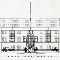 [Architectural Rendering of the General Library Building]