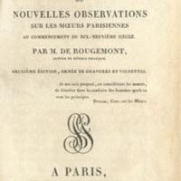 Le bonhomme, ou, Nouvelles observations sur les mœurs parisiennes au commencement du dix-neuvième siécle