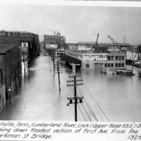 [The 1937 Flood: View over First Avenue]