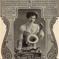 [Advertisement for The Edison Phonograph]