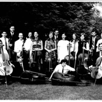 Alfred H. Bartles and his cello students