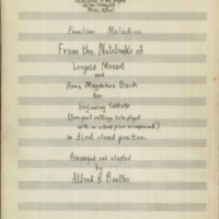 Familiar Melodies from the Notebooks of Leopold Mozart and Anna Magdalena Bach, for beginning cellists