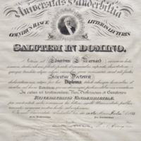 Honorary Diploma from Vanderbilt University: Presented to E. E. Barnard